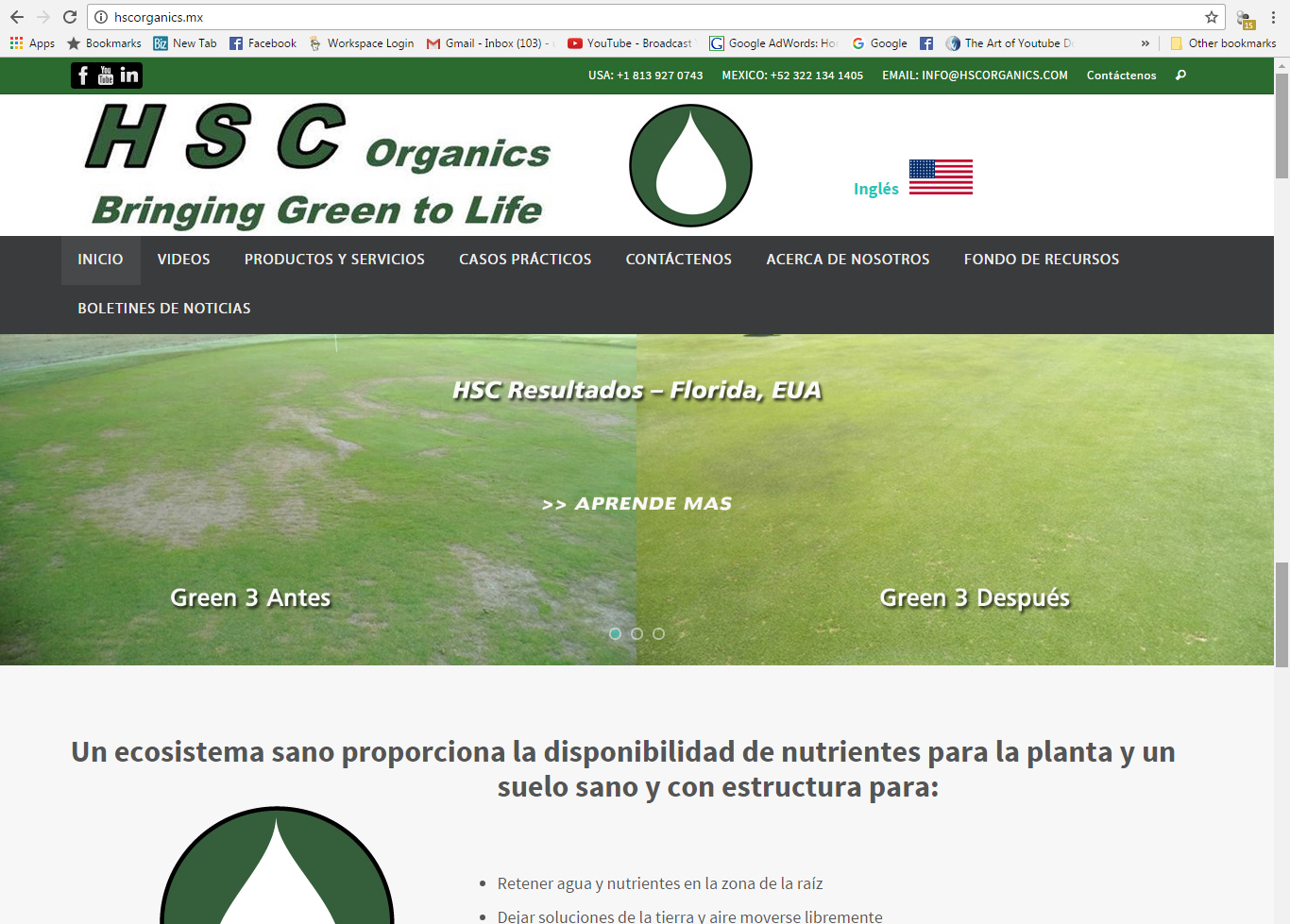 HSC Organics Website - Spanish