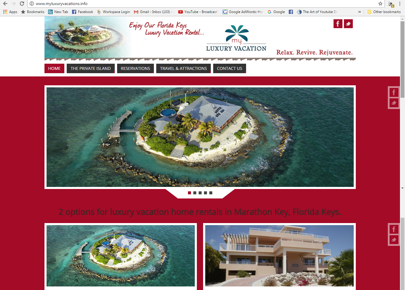 My Luxury Vacation Website